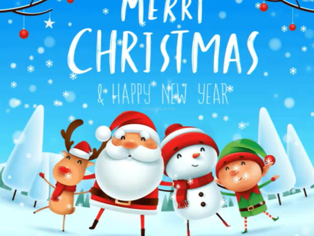 Happy Holidays.  May you have a Merry Christmas and Happy New Year full of blessings for you and you