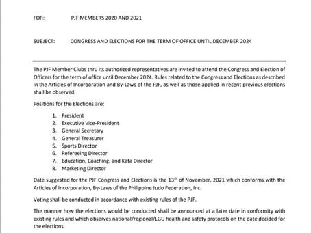 """""""PJF Congress and Election for the Term of Office Until December 2024"""""""