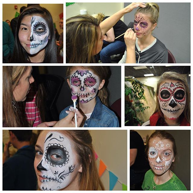 Dias de las Muertos! Here are a few of the faces I did