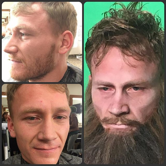 The 3 versions of _jasongraystudioc! Thanks for letting me glue hair to your face!! This guy is so p