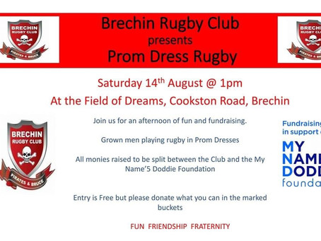 Prom Dress Rugby Day