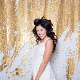 Gold & White sequin backdrop