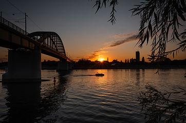 Sunset on the River Sava, Belgrade.jpg