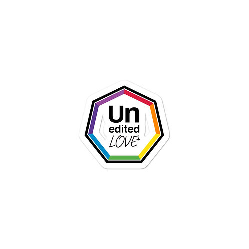 UneditedLOVE ROYGBIV Rainbow Heptagon Bubble-free stickers