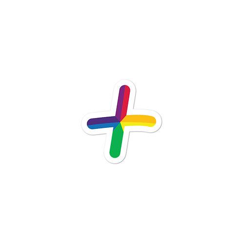 UneditedLOVE ROYGBIV Rainbow '+' Bubble-free stickers