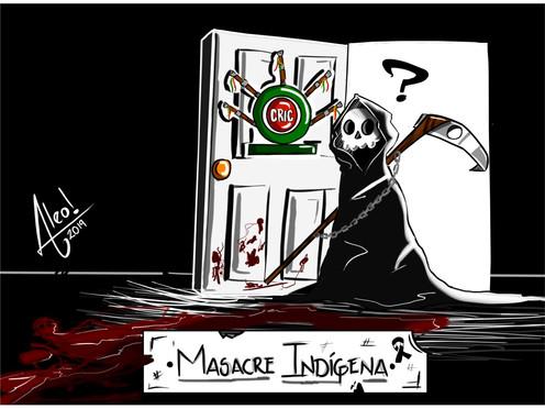 [CARICATURA] Masacre indígena
