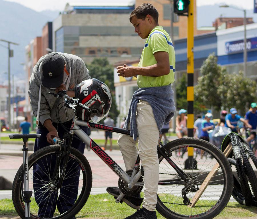 Biciusuarios en Bogotá