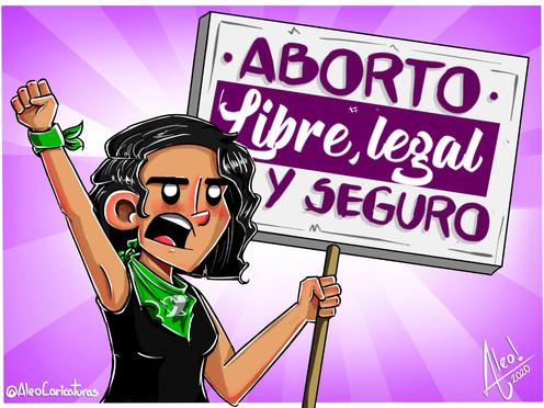 """[Caricatura] """"Aborto libre, legal y seguro"""""""