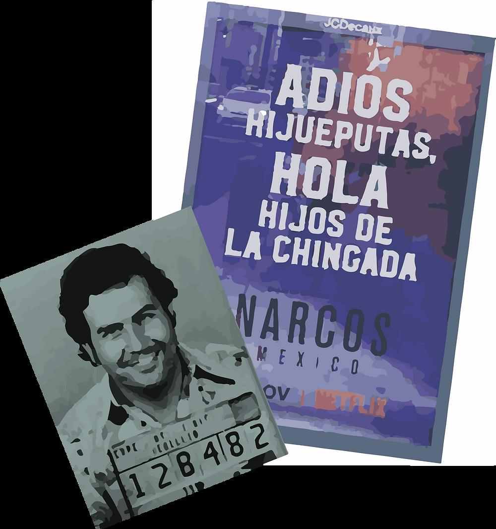 """ILUSTRACIÓN: La imagen de Pablo Escobar y la promoción  de """"Narcos"""" en España"""