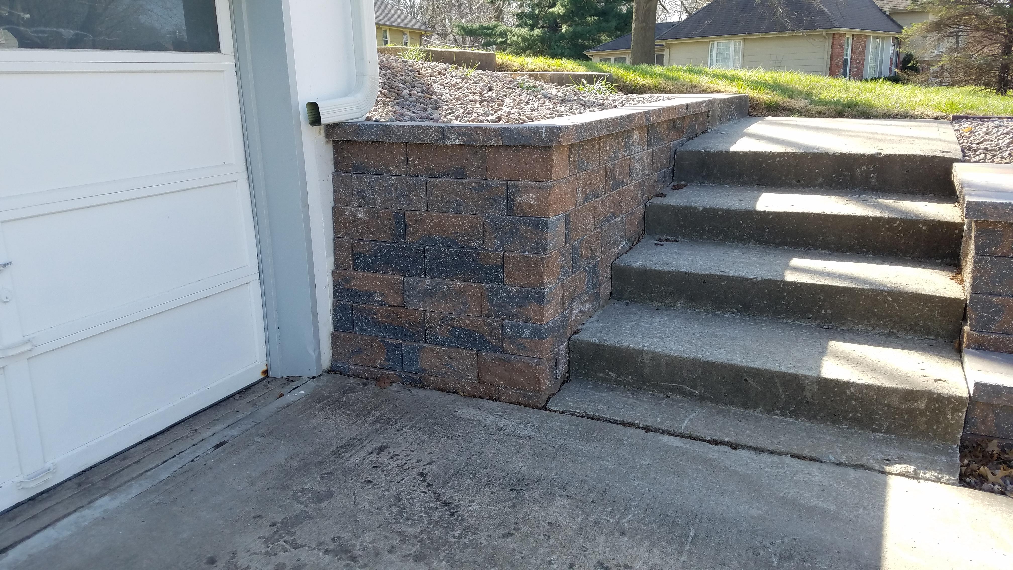 wall at steps