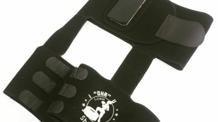 """I """"DHR"""" U Fitness Full Torso Waist  and Thigh Trimmer with Cell Holder"""