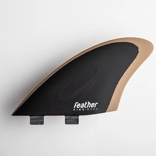 Featherfins KEEL BLACK/BROWN FCS-1 Double Tab systems