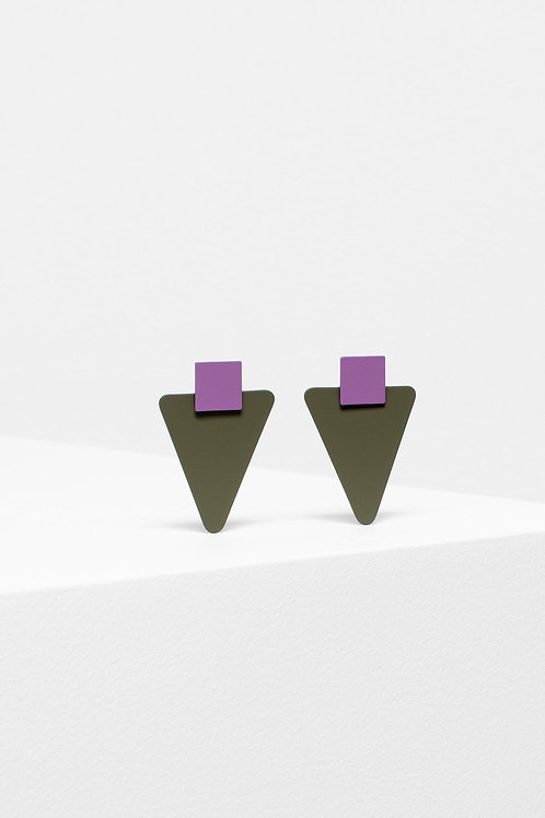 ELK - Kolmio Drop Earring - Pink/Taupe
