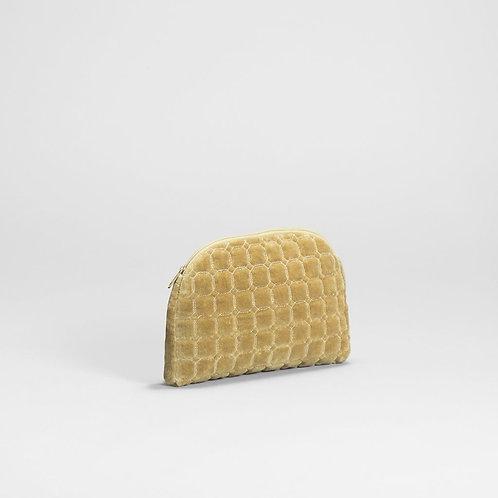 Inka Velvet Pouch - Yellow