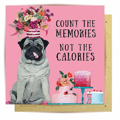 Mini Card Calorie Counter Pug
