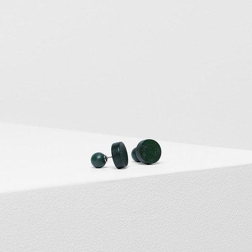Paz Stud Earring - Olive