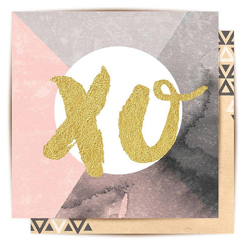 Mini Card Gold XO