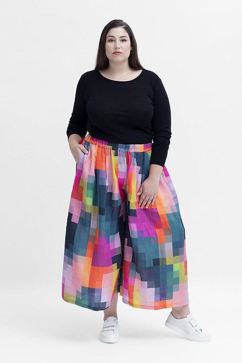 ELK - Falme Linen Pant - Pixel Print