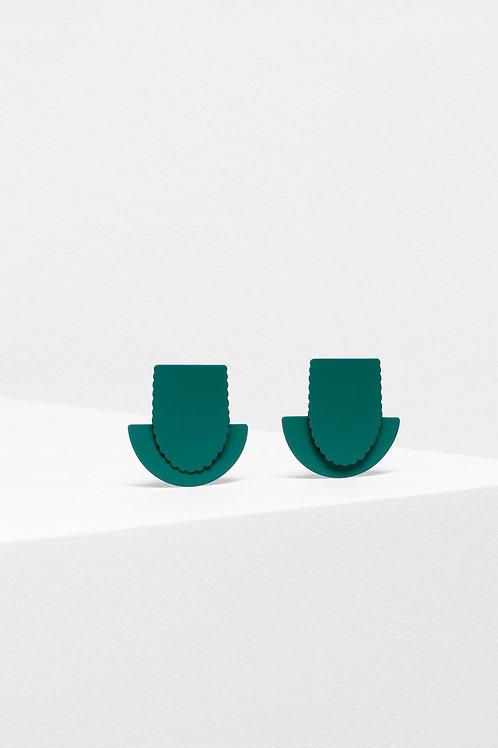 Flor Drop Earring - Green