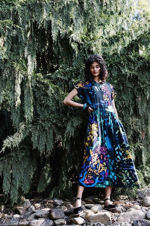 Neon Garden Dress - Print