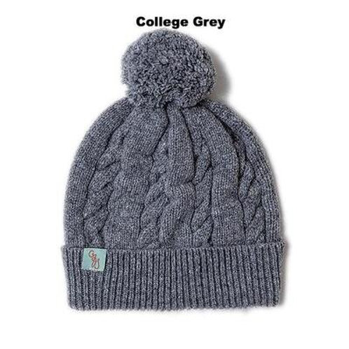 Cable Beanie - College Grey