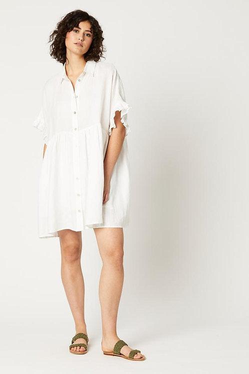 Eb&Ive - Nala Shirt Top/Dress - Salt
