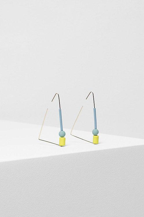 Dakin Earring - Mid Grey/Mint/Lemon