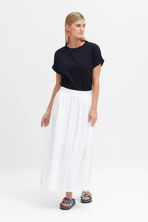 Tia Linen Skirt - White
