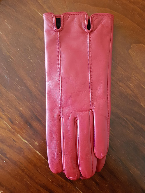 Leather Gloves - Red Stitch