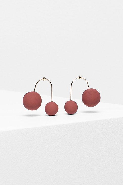 Aari Drop Earring - Red Clay