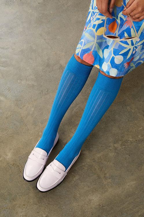 Rib Socks - Blue