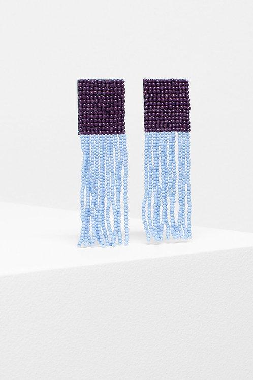 ELK - Gnistra Drop Earring - Burgundy/Blue
