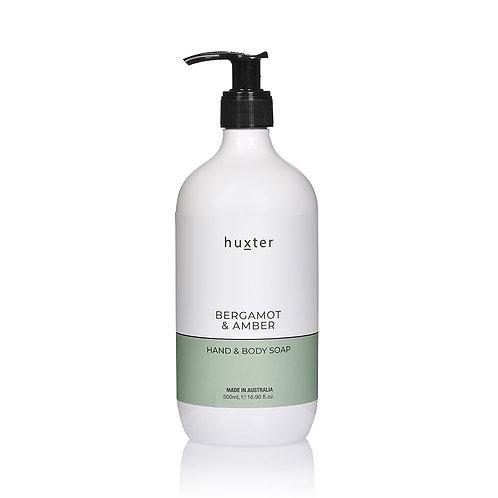 Hand & Body Soap - Bergamot & Amber