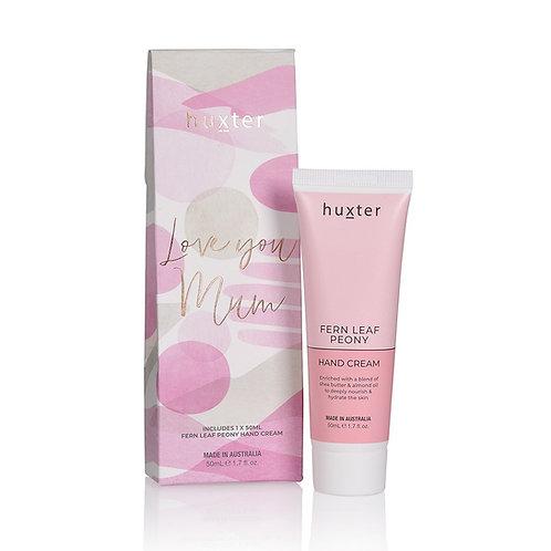 LOVE YOU MUM Hand Cream Gift Box - Fern Leaf Peony