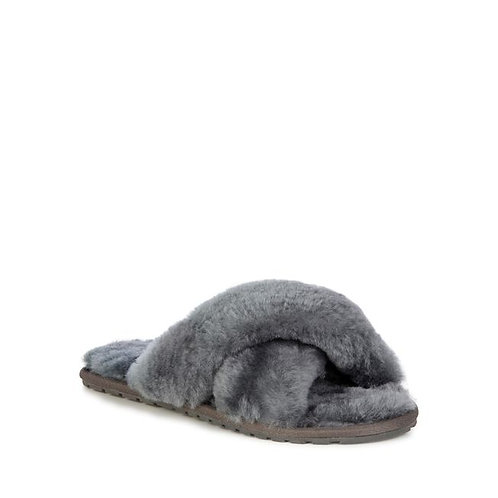 Mayberry Sheepskin Slippers - Charcoal