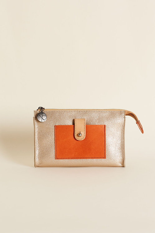 Piper Wallet - Gold Metallic