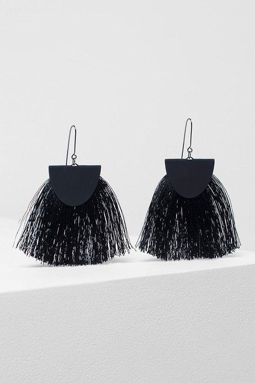 Holm Tassel Earring - Black