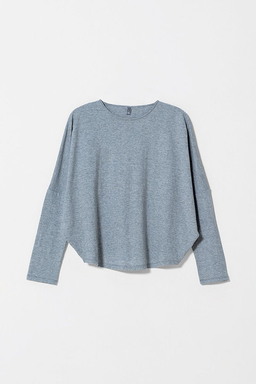 Bries Cotton Top - Grey Marle