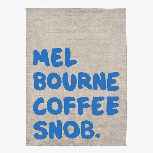 Iconic Tea Towel 100% Linen - Melbourne Coffee Snob