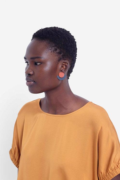 Rikke Earring -Clay/Navy
