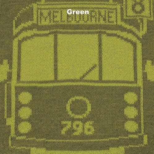 Tram I Am Merino Scarf - Green