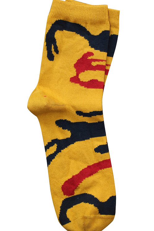Camouflage Socks - Mustard