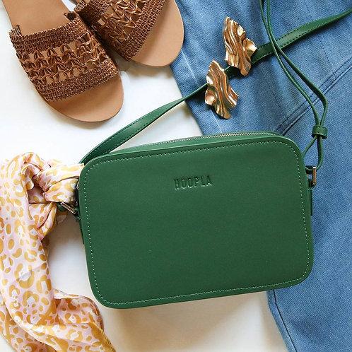 Hoopla Cross Body Box Bag - Jade Green