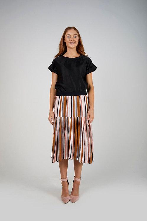 Drop Waist Pleat Skirt