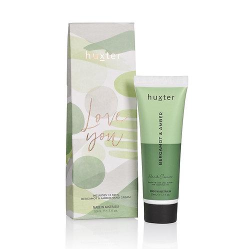 LOVE YOU Hand Cream Gift Box - Bergamot & Amber