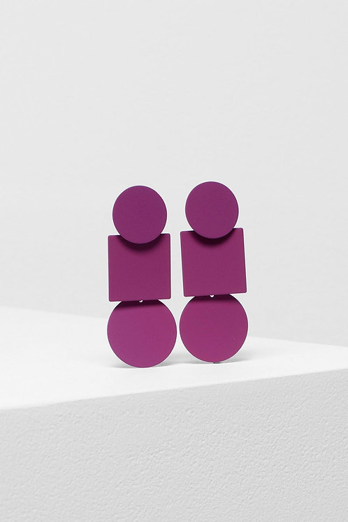 Fala Drop Earrings - Magenta