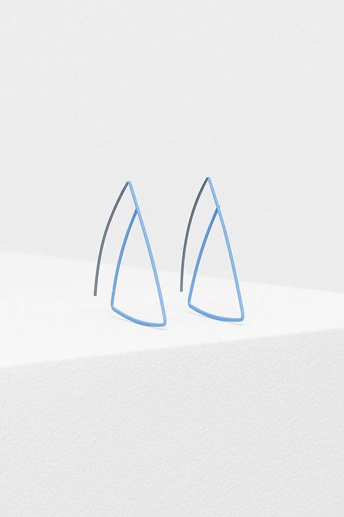 Kedja Hoop Earring - Blue