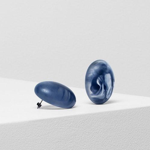 Organisk Bead Earring - Navy