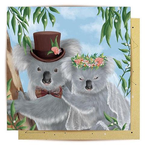 Mini Card Koala Wedding