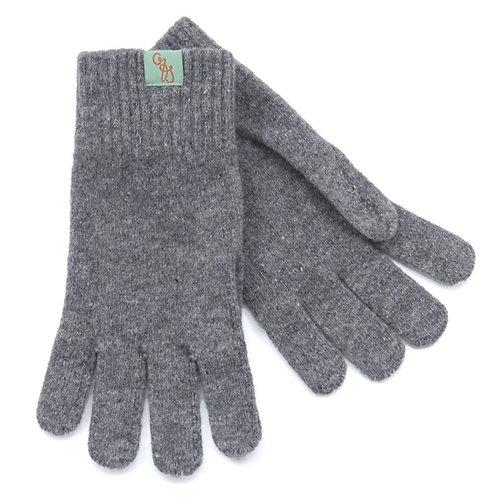 Unisex Lambswool Gloves - College Grey